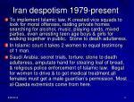iran despotism 1979 present