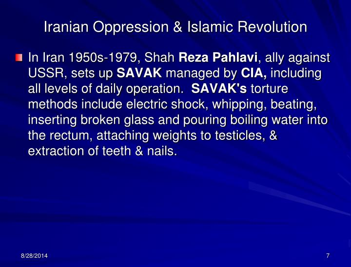 Iranian Oppression & Islamic Revolution