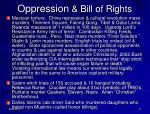 oppression bill of rights