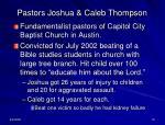 pastors joshua caleb thompson
