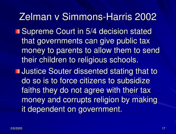 Zelman v Simmons-Harris 2002