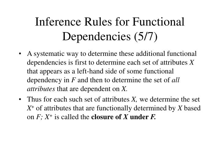 Inference Rules for Functional Dependencies (5/7)