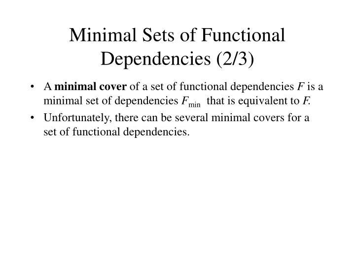 Minimal Sets of Functional Dependencies (2/3)
