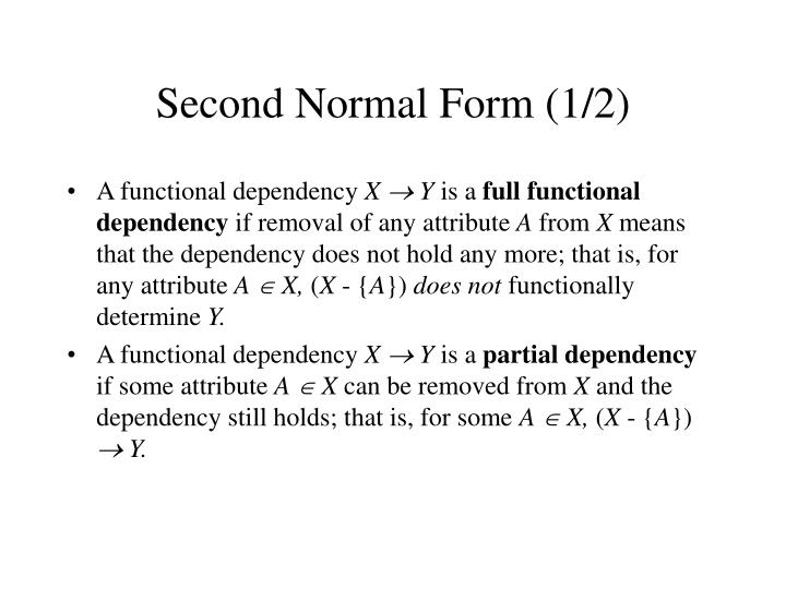 Second Normal Form (1/2)