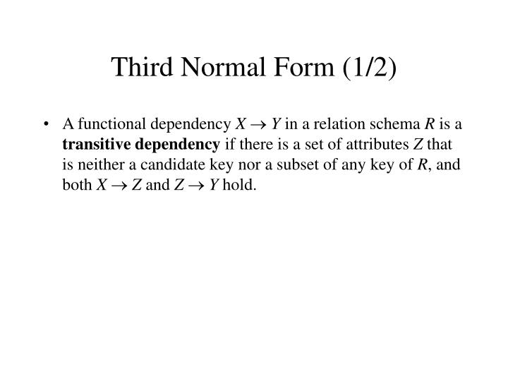 Third Normal Form (1/2)