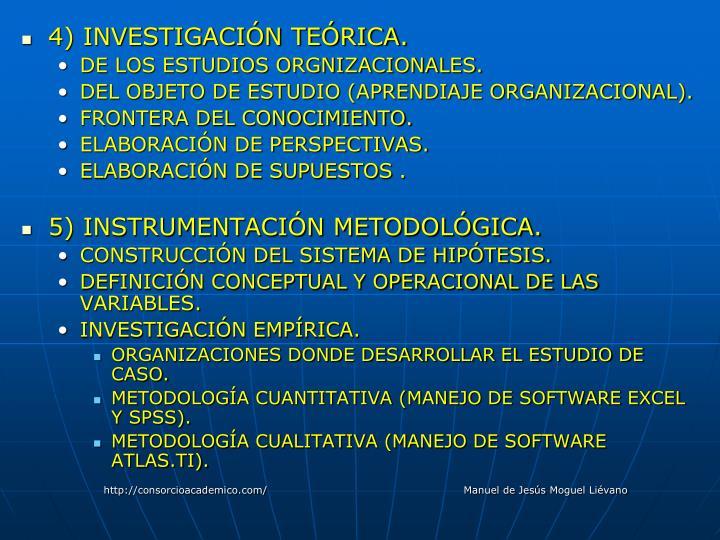 4) INVESTIGACIÓN TEÓRICA.
