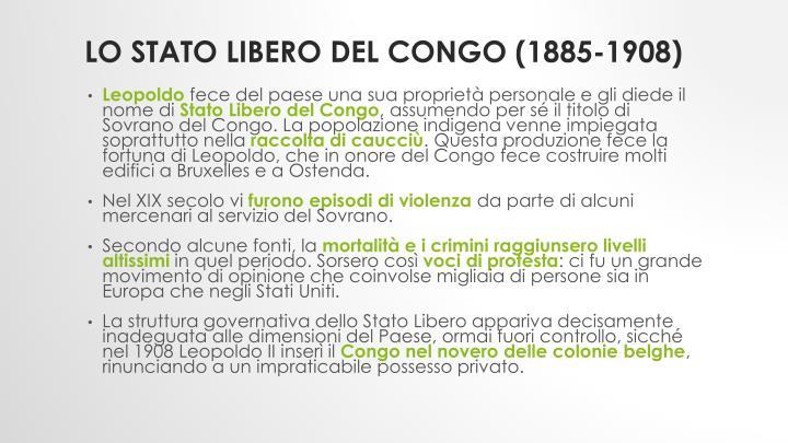 Lo Stato Libero del Congo (