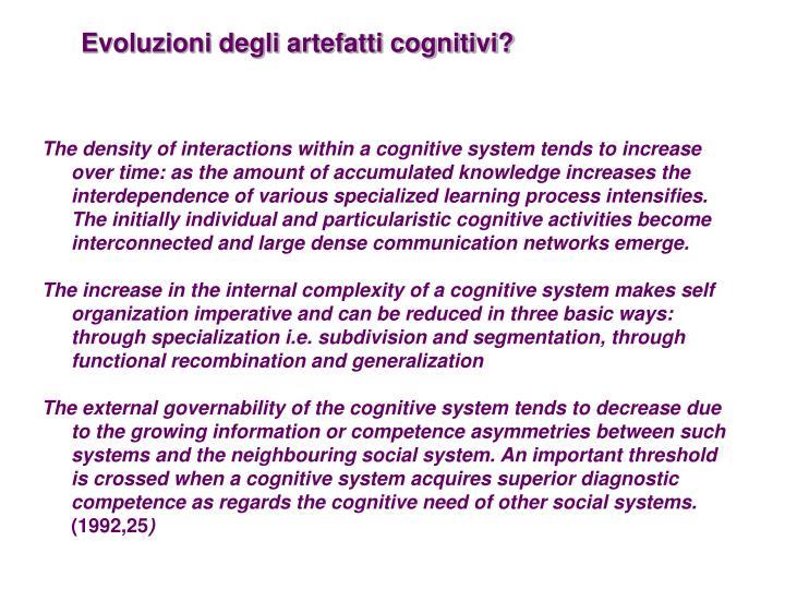 Evoluzioni degli artefatti cognitivi?