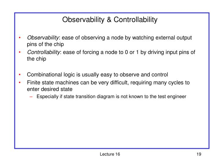 Observability & Controllability