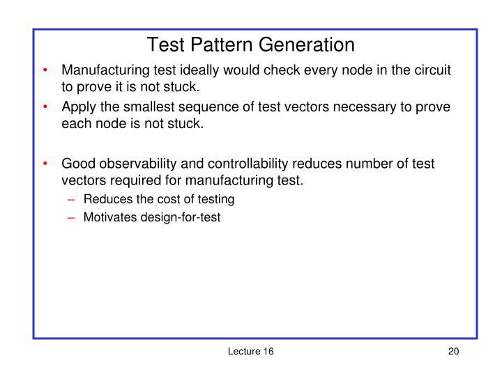 Test Pattern Generation