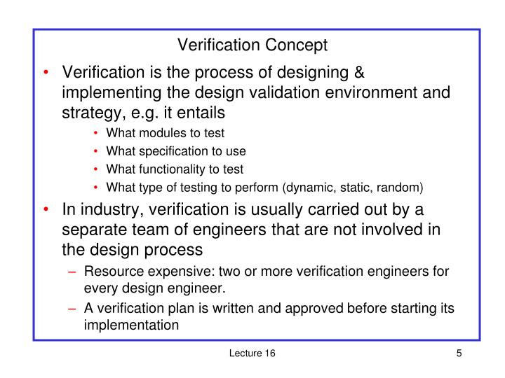 Verification Concept