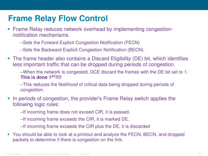 Frame Relay Flow Control