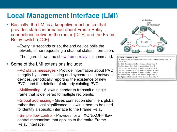 Local Management Interface (LMI)