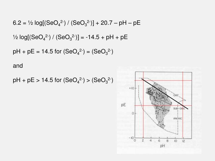 6.2 = ½ log[(SeO