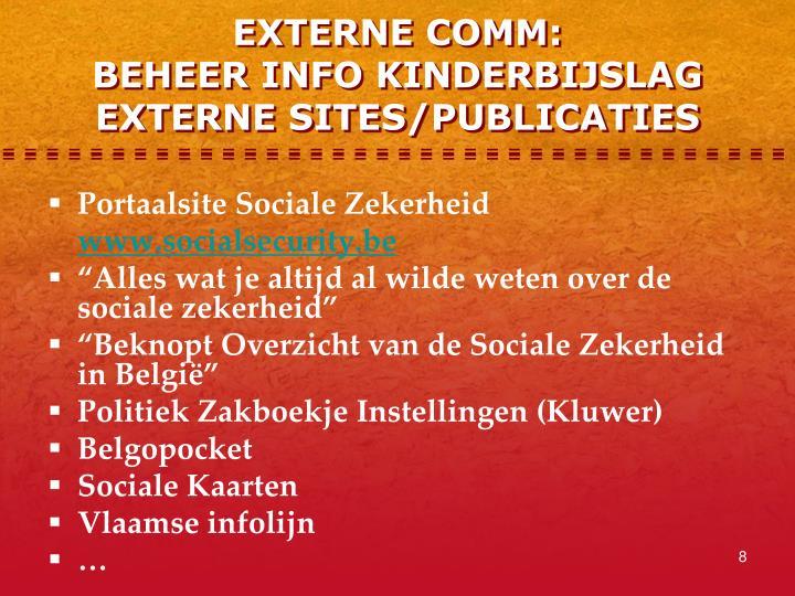 EXTERNE COMM: