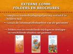 externe comm folders en brochures