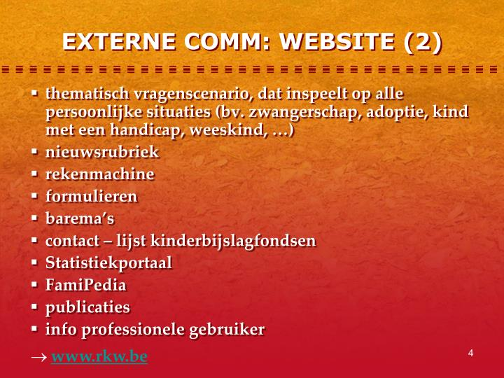 EXTERNE COMM: WEBSITE (2)