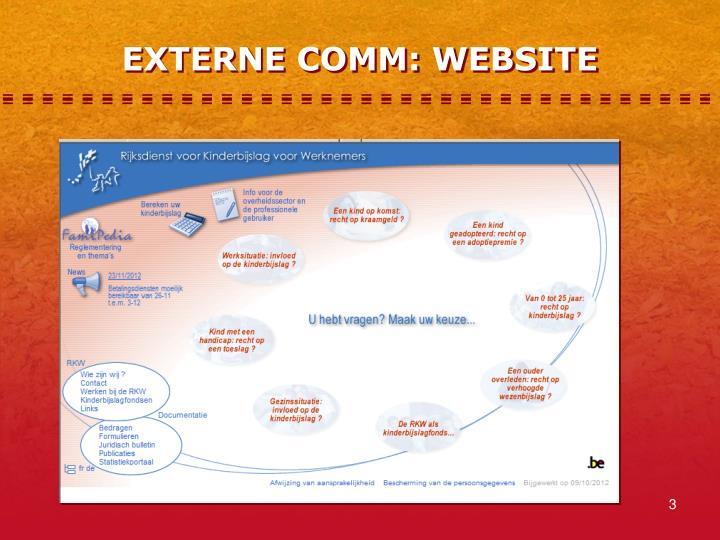 EXTERNE COMM: WEBSITE