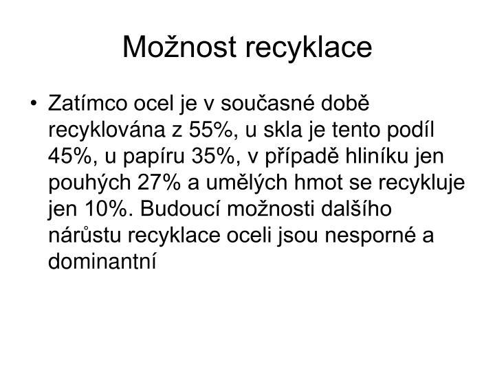 Možnost recyklace