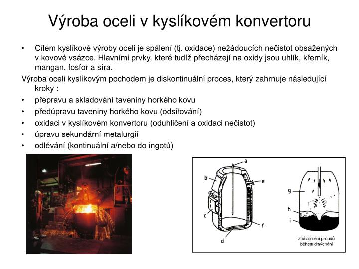 Výroba oceli v kyslíkovém konvertoru