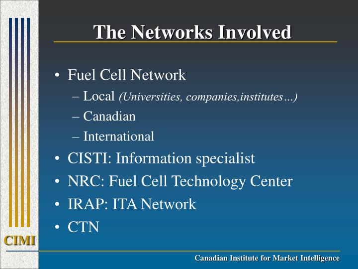 The Networks Involved