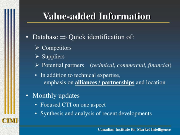 Value-added Information