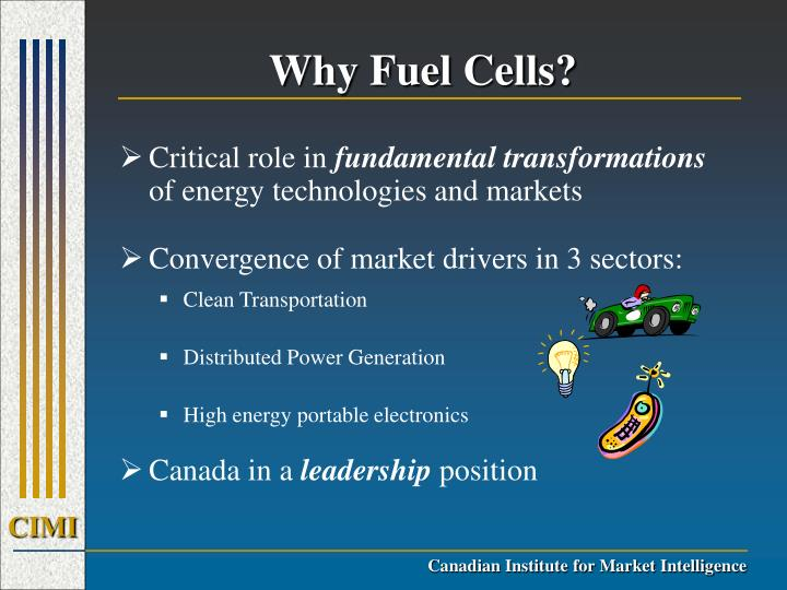 Why Fuel Cells?