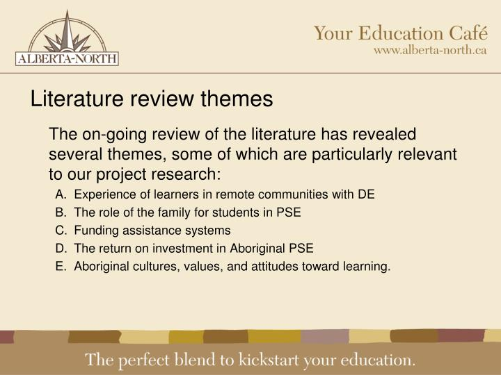 Literature review themes