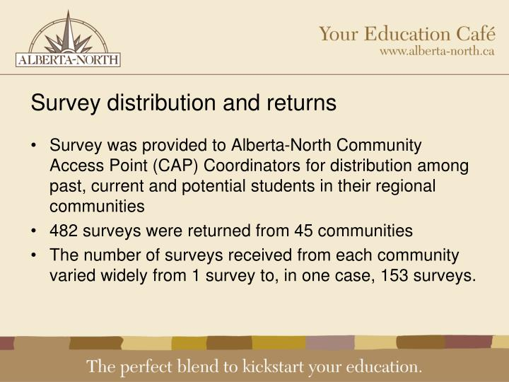 Survey distribution and returns
