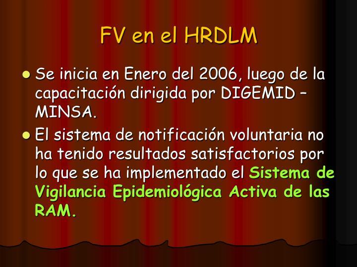 FV en el HRDLM