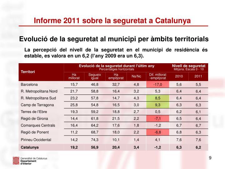 Informe 2011 sobre la seguretat a Catalunya