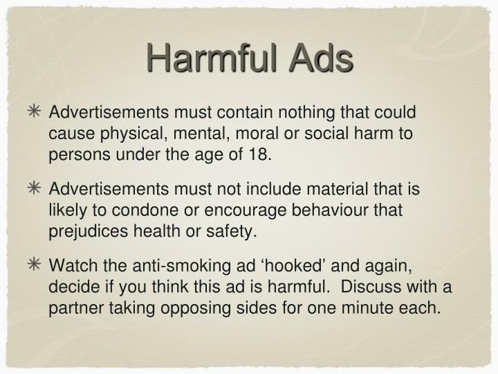 Harmful Ads