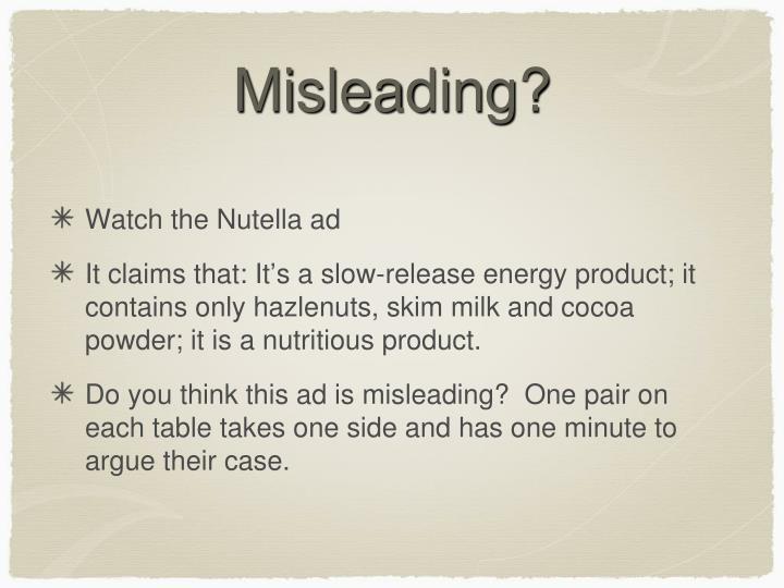 Misleading?
