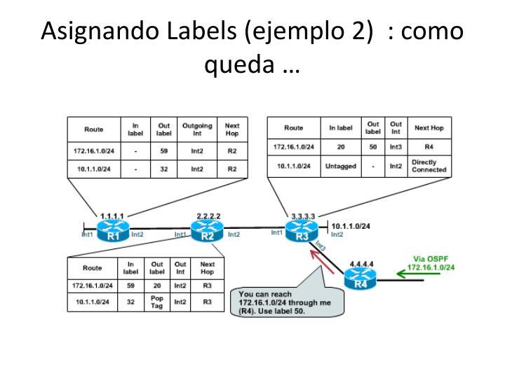 Asignando Labels (ejemplo 2)  : como queda …
