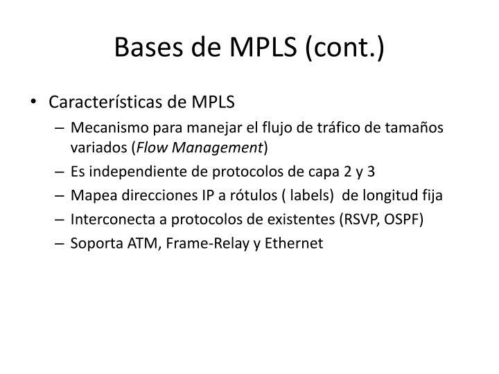 Bases de MPLS (cont.)