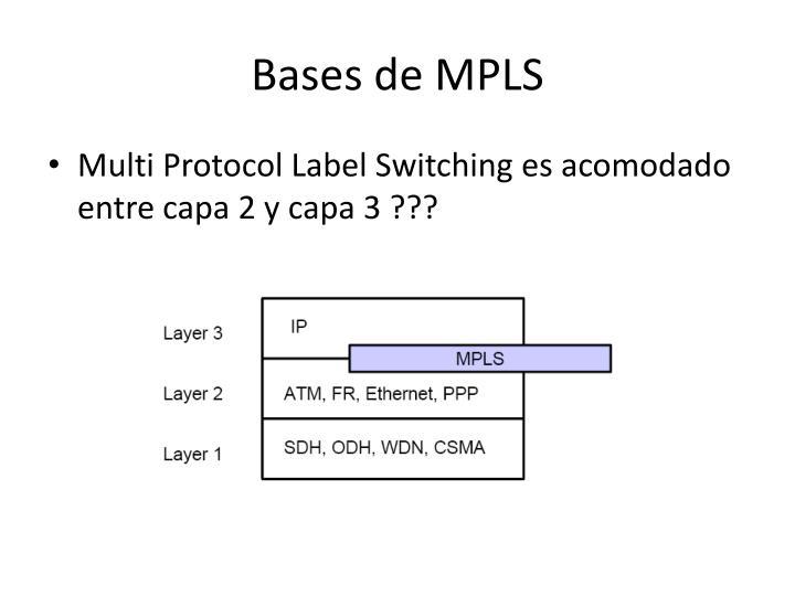 Bases de MPLS