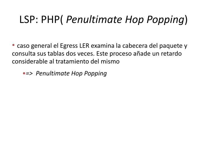 LSP: PHP(