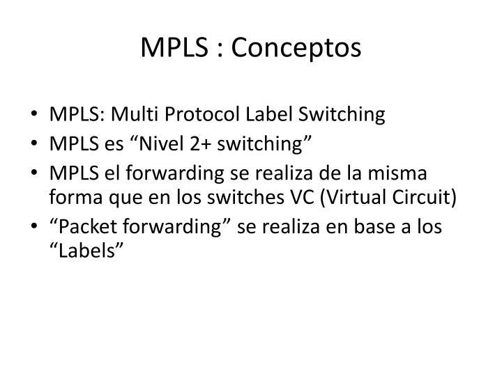 MPLS : Conceptos