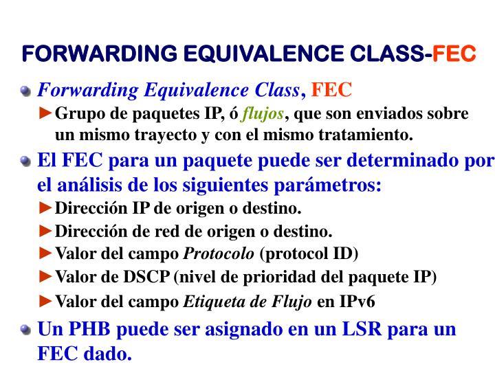 Forwarding Equivalence Class