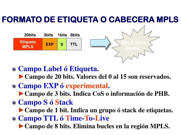 Campo Label ó Etiqueta.