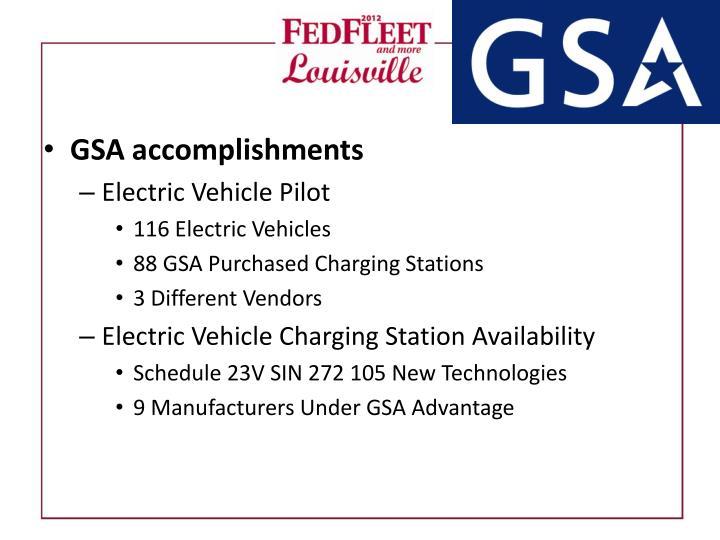 GSA accomplishments
