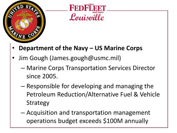 Department of the Navy – US Marine Corps