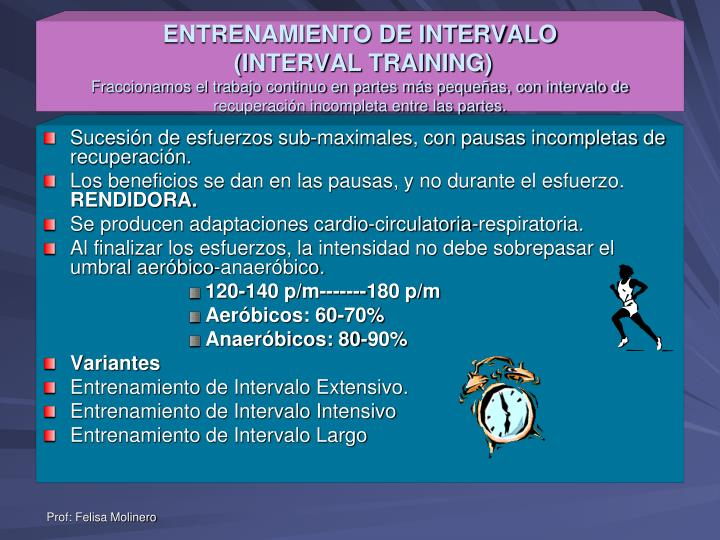 ENTRENAMIENTO DE INTERVALO