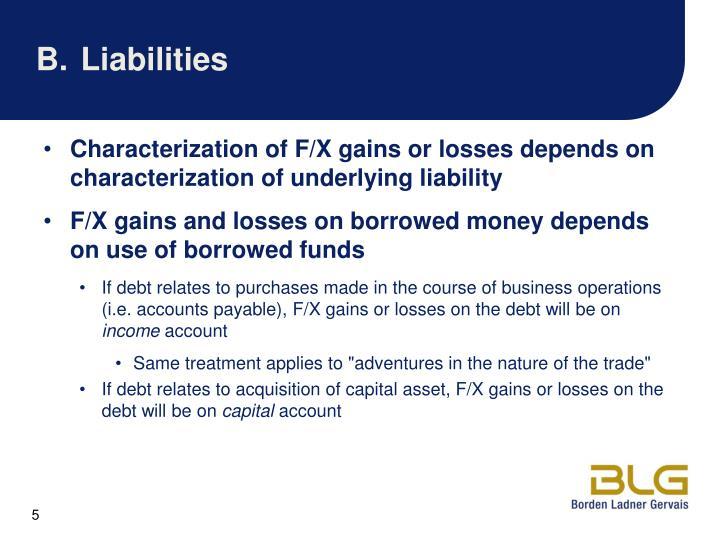 B.Liabilities