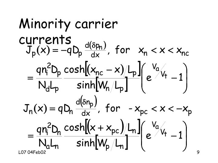 Minority carrier