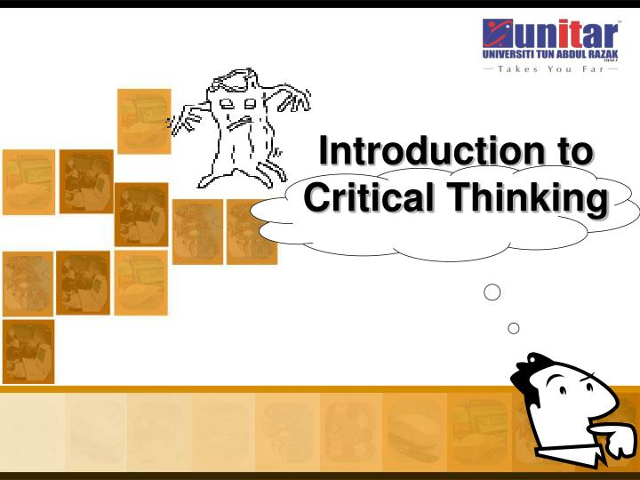 critical thinking its application Critical thinking and research results and relevance 2 — necessary for the evaluation of research results and their application to clinical practice critical.