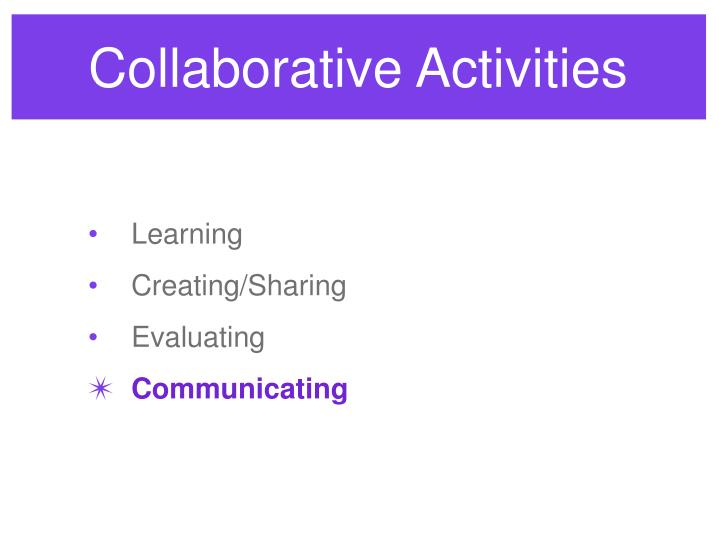 Collaborative Activities
