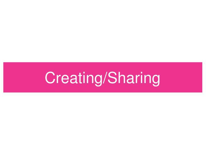 Creating/Sharing