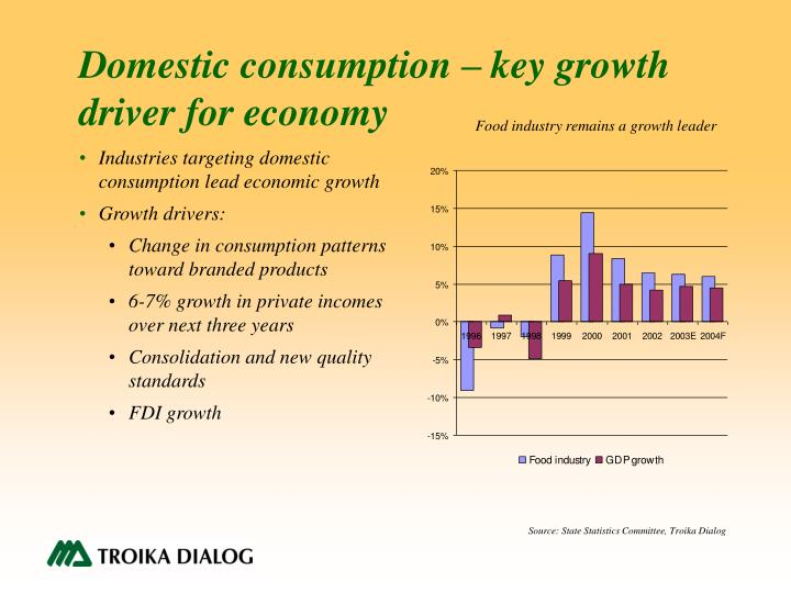 Domestic consumption – key growth driver for economy