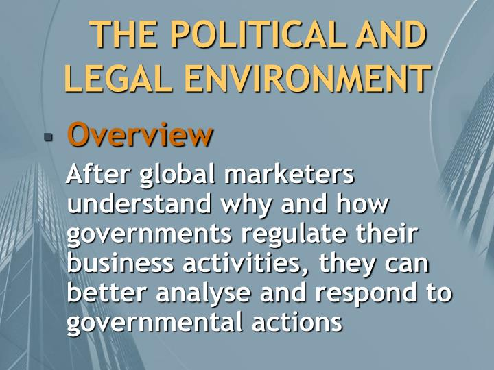 The political and legal environment1